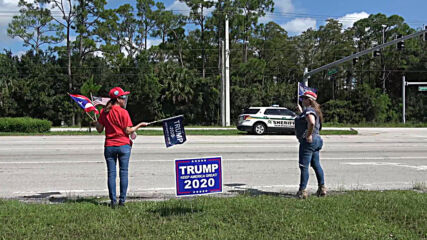 USA: Florida Trump supporters hold 'Patriot Ride 2020' convoy rally