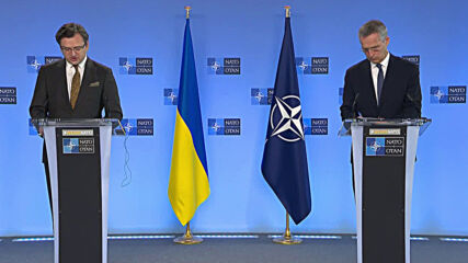 Belgium: NATO chief sends message of support after meeting Ukrainian FM