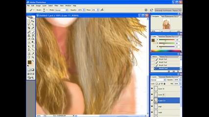 Портретна рисунка на Цвети - Photoshop by Ilia dimkata