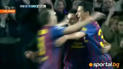 Барселона - Сп. Хихон 3 - 1 03.03.2012