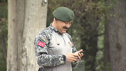 Moustached security staff draws attention for likeness to Erdogan