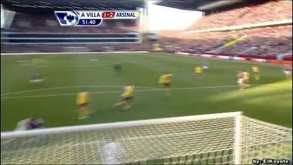 Aston Villa 2 - 4 Arsenal - Ciaran Clark - 1 - 2