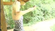 Shooting a Beretta Bobcat 21a - Girls Shooting Guns