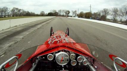 Hd драгстер прави 400 метра за 6.60 , 208 mph! поглед от кабината
