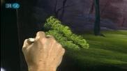 S15 Радостта на живописта с Bob Ross E10 - гора в овал ღобучение в рисуване, живописღ
