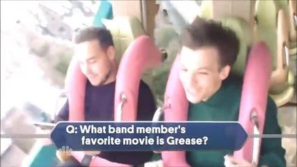 Лиъм интервюира момчетата от One Direction, докато се возят на увеселително влакче - The Tv Special