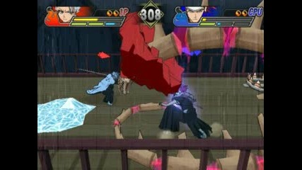 Hitsugaya vs Renji Bleach Blades of Battlers 2