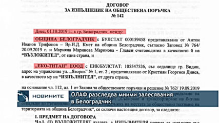 ОЛАФ разследва мними залесявания в Белоградчик
