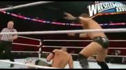 John Cena vs The Miz - Wwe Raw (with The Rock Backstage)
