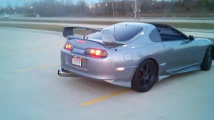 800hp Toyota Supra Пламъци