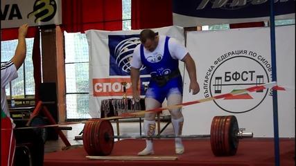 Ивайло Христов - 347.5 кг от мъртва тяга