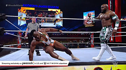 Big E slams Apollo Crews onto steel steps: WrestleMania 37 – Night 2 (WWE Network Exclusive)