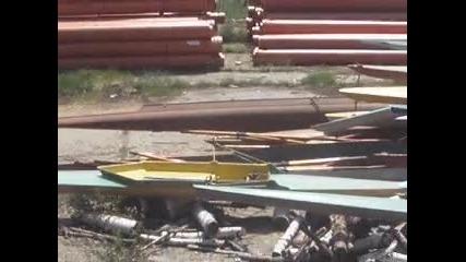 Унищожените лодки от гребната база на Ту в Правец