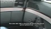 Mercedes S65amg vs Porsche 911 Carrera