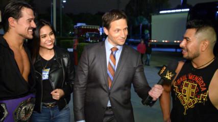 Raul Mendoza congratulates Angel Garza and his fiancée: WWE.com Exclusive, Dec. 11, 2019