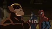 Върховен Спайдър - Мен / Човекът - Паяк и Капитан Америка се натъкват на Върколакът