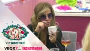 Енджи видя в чашата за кафе на Джули бившия ѝ да я чака - VIP Brother 2017