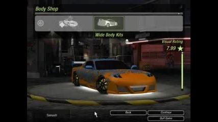 My Cars In Nfsu2 :p
