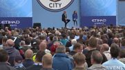 UK: Manchester City fans welcome new manager Pep Guardiola