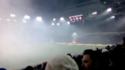 Russia: Fans set fire to stands during Moscow derby
