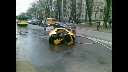 Блъснаха Lamborghini Murcelago В Москва
