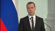 Russia: Medvedev talks EU sanctions, refugee crisis with Finnish PM