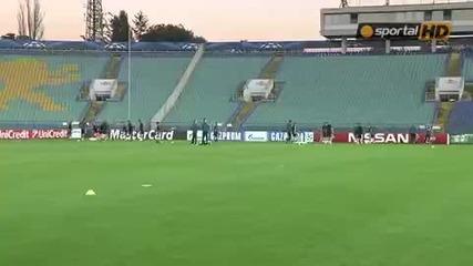 Официалната тренировка на Реал Мадрид в националния стадион Васил Левски преди мача с Лудогорец