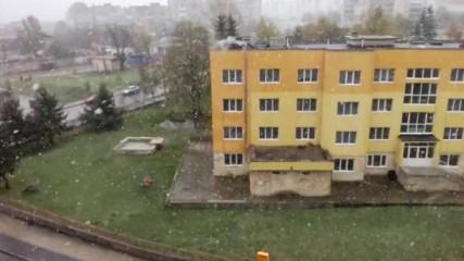 Сняг в Шумен 20.04.2017