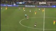 """Ето как Робиньо и Балотели танцуваха на """"сан Сиро"""" / Милан 2:0 Барселона (20.02.2013)"""