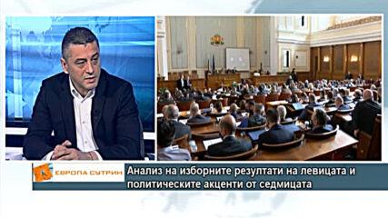 Красимир Янков с анализ на изборните резултати на левицата и политическите акценти от седмицата