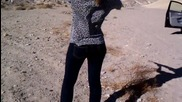 Girl shooting .22 Ruger Fast