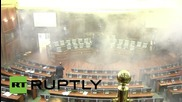 Serbia: Kosovo opposition MPs stage second tear gas protest in parliament