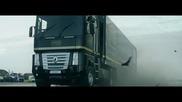 Рекорд на Гинес - Скок с камион върху болид от Формула 1