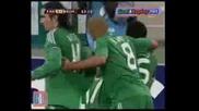 Panathinaikos - Roma 3 - 2 (16/2/10) All Goals