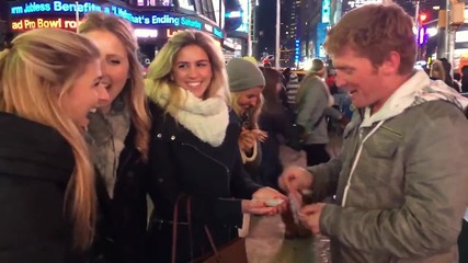 Да спечелиш целувка за Нова година, от трик с карти