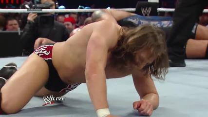 Daniel Bryan & Big Show vs. Batista & Randy Orton Raw (10.03.14)