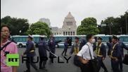 Japan: Thousands protest military legislation changes in Tokyo