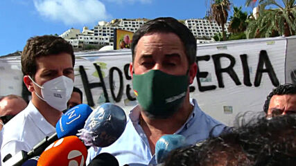 Spain: Vox's leader blames govt for migrant arrivals at Canary Islands protest