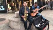 Улични музиканти в Женева, Швейцария