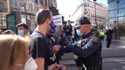 Spain: Far right group disrupts healthcare privatisation protest march in Madrid