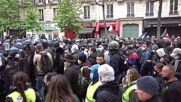 France: Riot police scuffle with protesters at Labour Day march in Paris