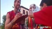 Стотици хиляди приветстват шампионите от Евро 2012 по улиците на Мадрид
