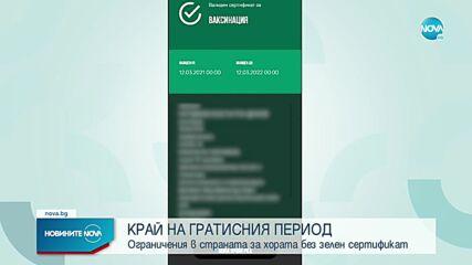 Край на гратисния период за зелените сертификати