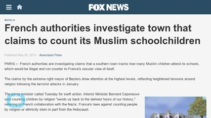 French Authorities Investigate Town That Claims to Count Its Muslim Schoolchildren