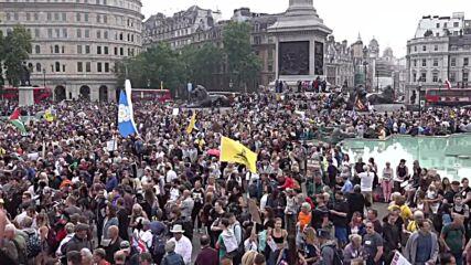 UK: COVID sceptics rally in London
