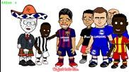 Луис Суарес Boot Обявата - Разбира Ще се Haters (football Карикатура Parody 442oons)