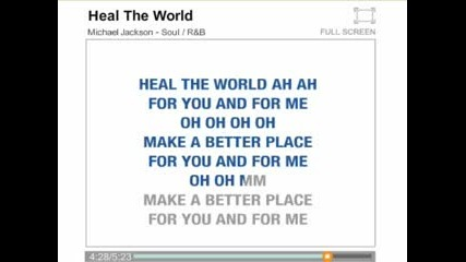 Michael Jackson - Heal The World Karaoke