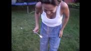 Lynne (my mom) doing the Cinnamon Dragon