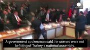 Жестоко меле в Турсия парламент.
