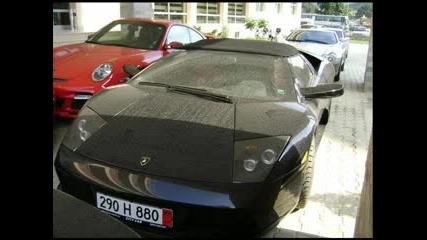 Черно Lamborghini Пред Хотел В Sunny Beach